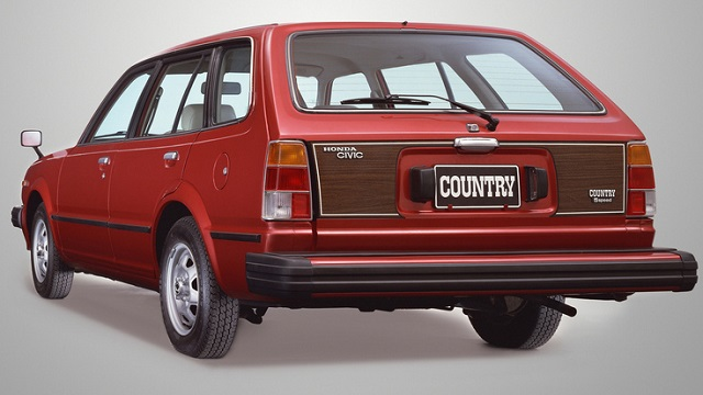 Honda Civic Country Station Wagon - Red paint