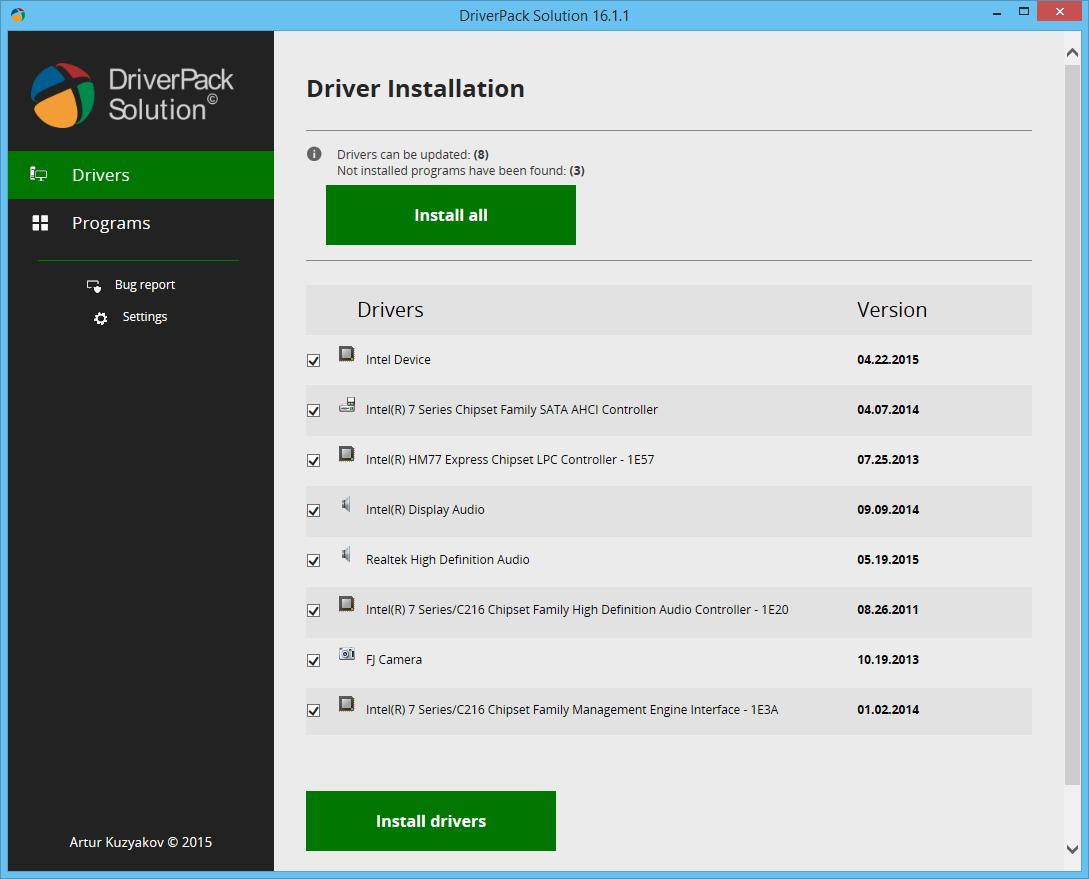 تحميل برنامج تعريفات اى جهاز كمبيوتر download driverpack solution مجانا