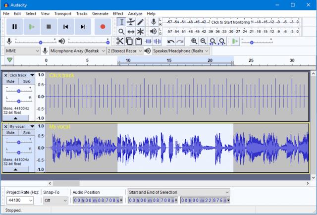 تحميل برنامج تعديل الصوت 2018 للكمبيوتر - Audacity Audio Editor مجانا