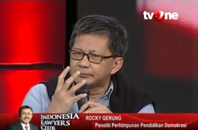 "Tamparan Keras Rocky Gerung di ILC: HOAX sekarang dikerdilkan artinya ""Kebencian kepada pemerintah"""