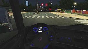 Blue Lighting dasboard for Scania R