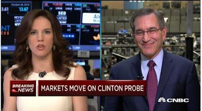 CNBC Kelly Evans - Markets move on Clinton Probe