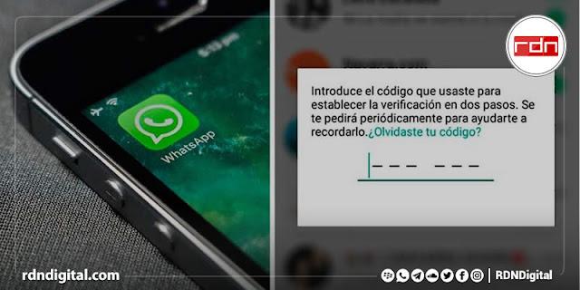 Bloqueo de contraseña en Whatsapp
