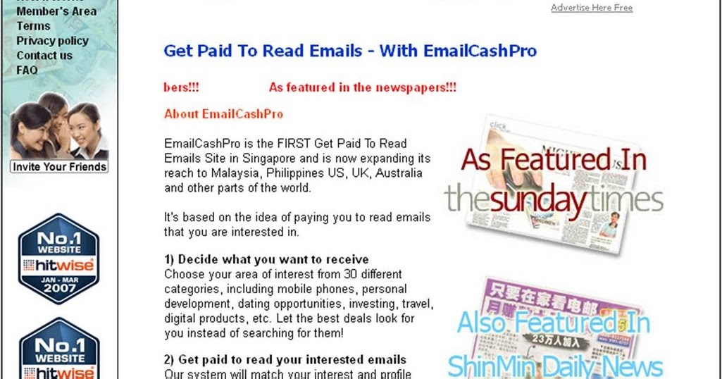 Send 20 Emails Get Paid 5 to $50+ In The Next Few Hours: How