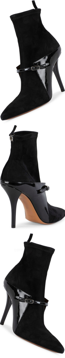 Givenchy New Feminie Line Leather Stretch Booties