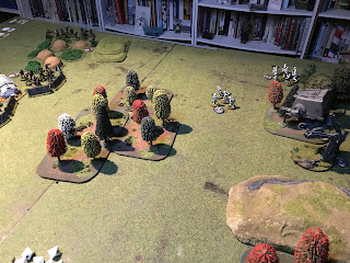 As the Imperials advance they take some long range fire from the Rebels
