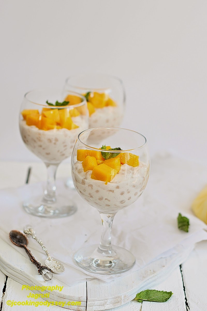 MANGO-COCONUT TAPIOCA PUDDING