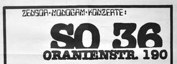 03 Nov 1980, SO36, Berlin, Germany - ACR Gigography