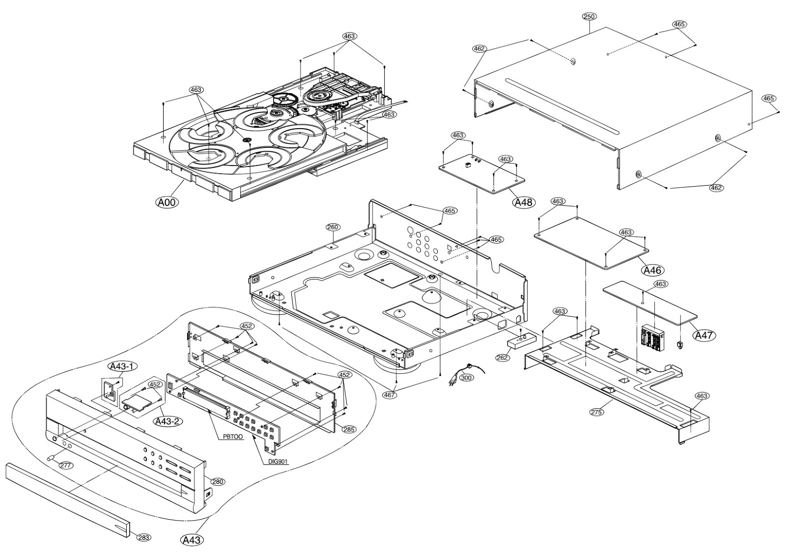 harman  kardon dvd 50  u2013 circuit diagram  u2013 disassembly
