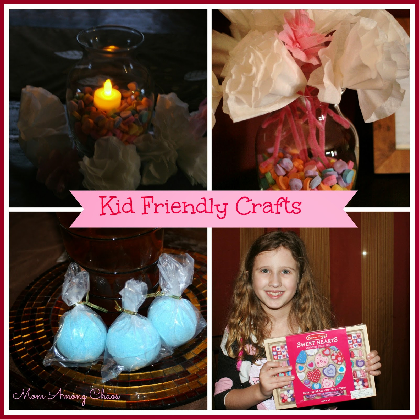 kids, kid friendly, kid friendly crafts, crafts, bath bombs, vase, Valentine's, diy, bracelets