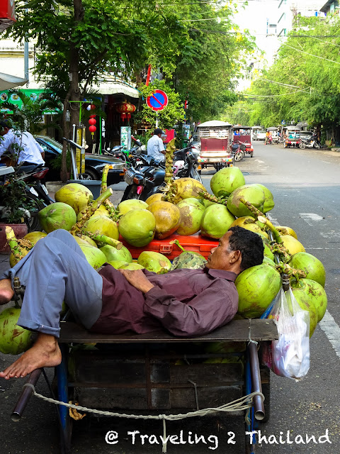 Sleeping at your work-place in Phnom Penh, Cambodia