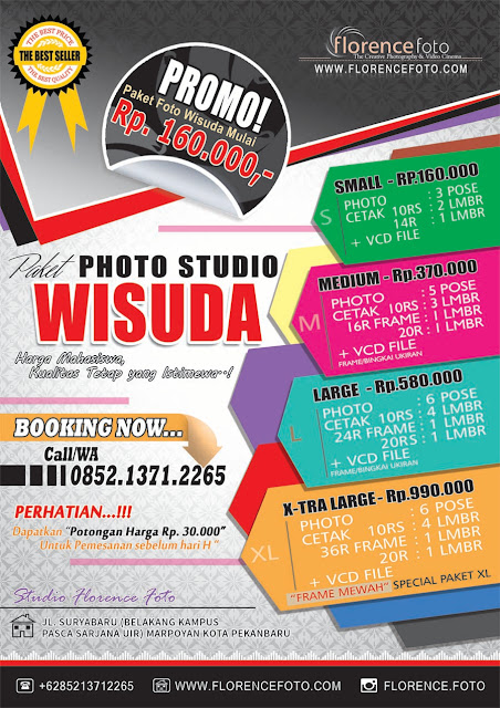 Promo Paket Foto Wisuda di Studio Florence Pekanbaru Periode 2018