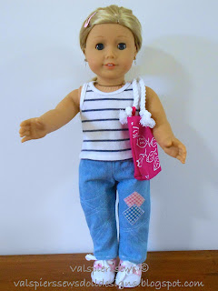 Classic Tank Top made from doll clothes pattern 1801