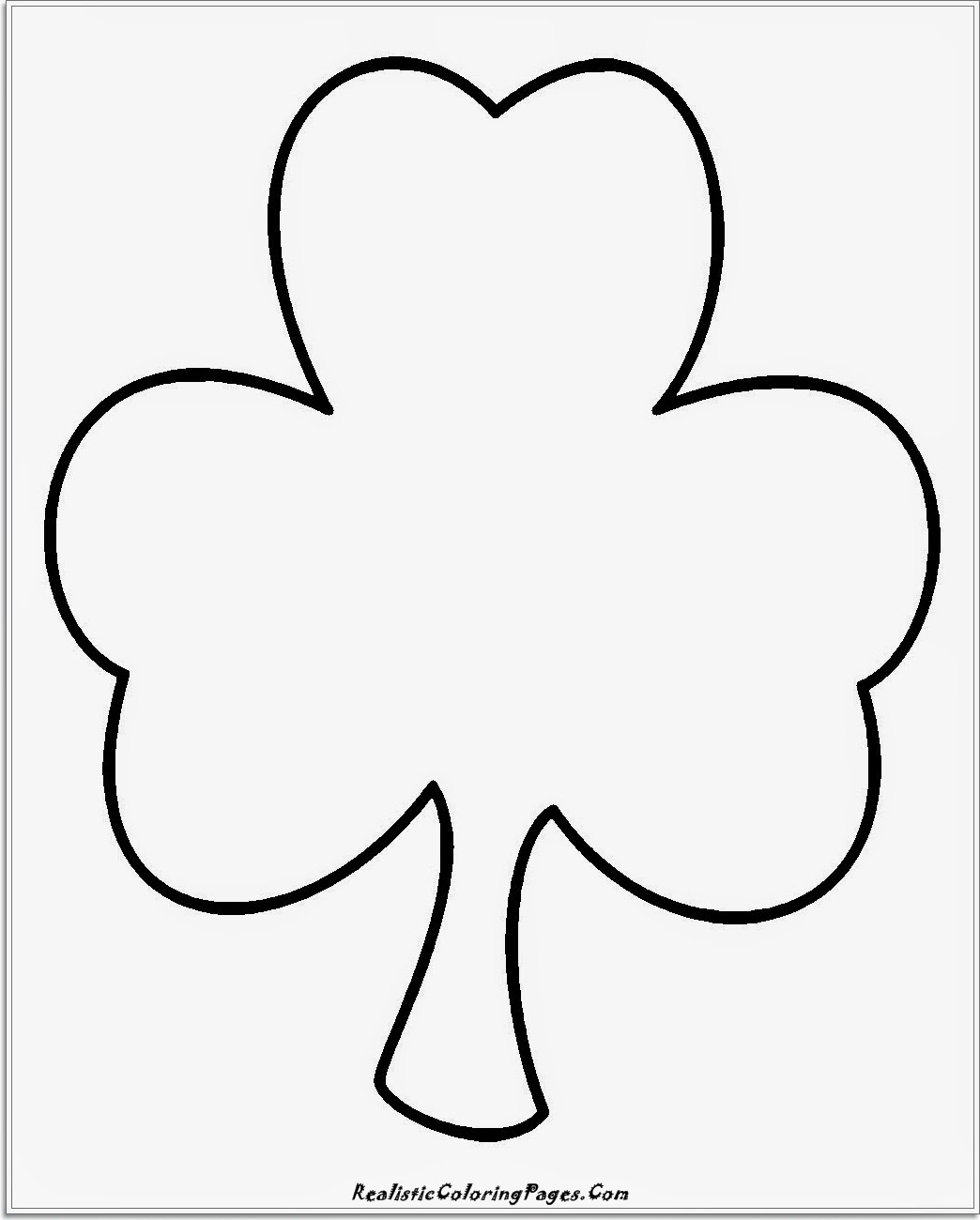 simple clover coloring pages