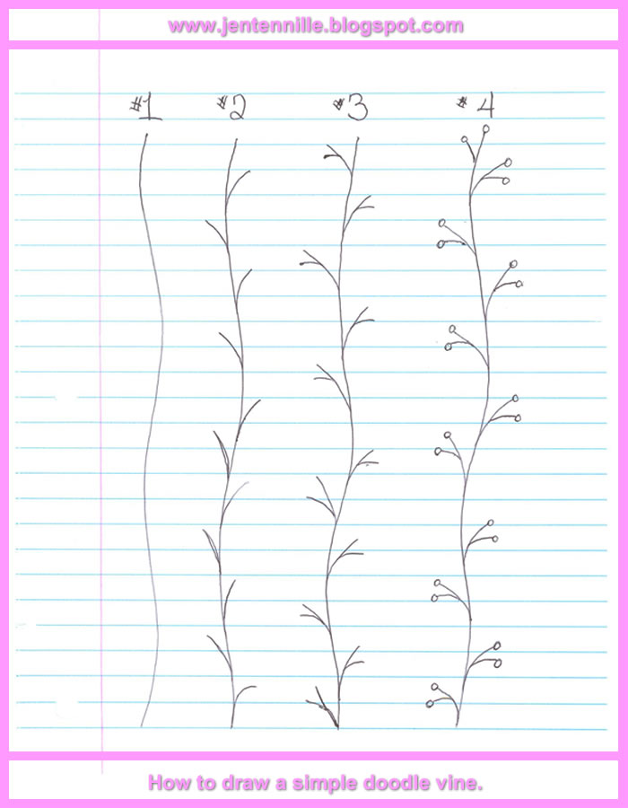Jen Tennille S Draw Doodle Style A Simple Doodle Vine Free Online