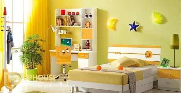 Phòng ngủ màu vàng kem 06