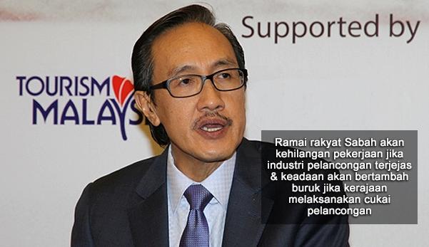 Kini Sabah Pulak Tolak Pelaksanaan Cukai Pelancongan