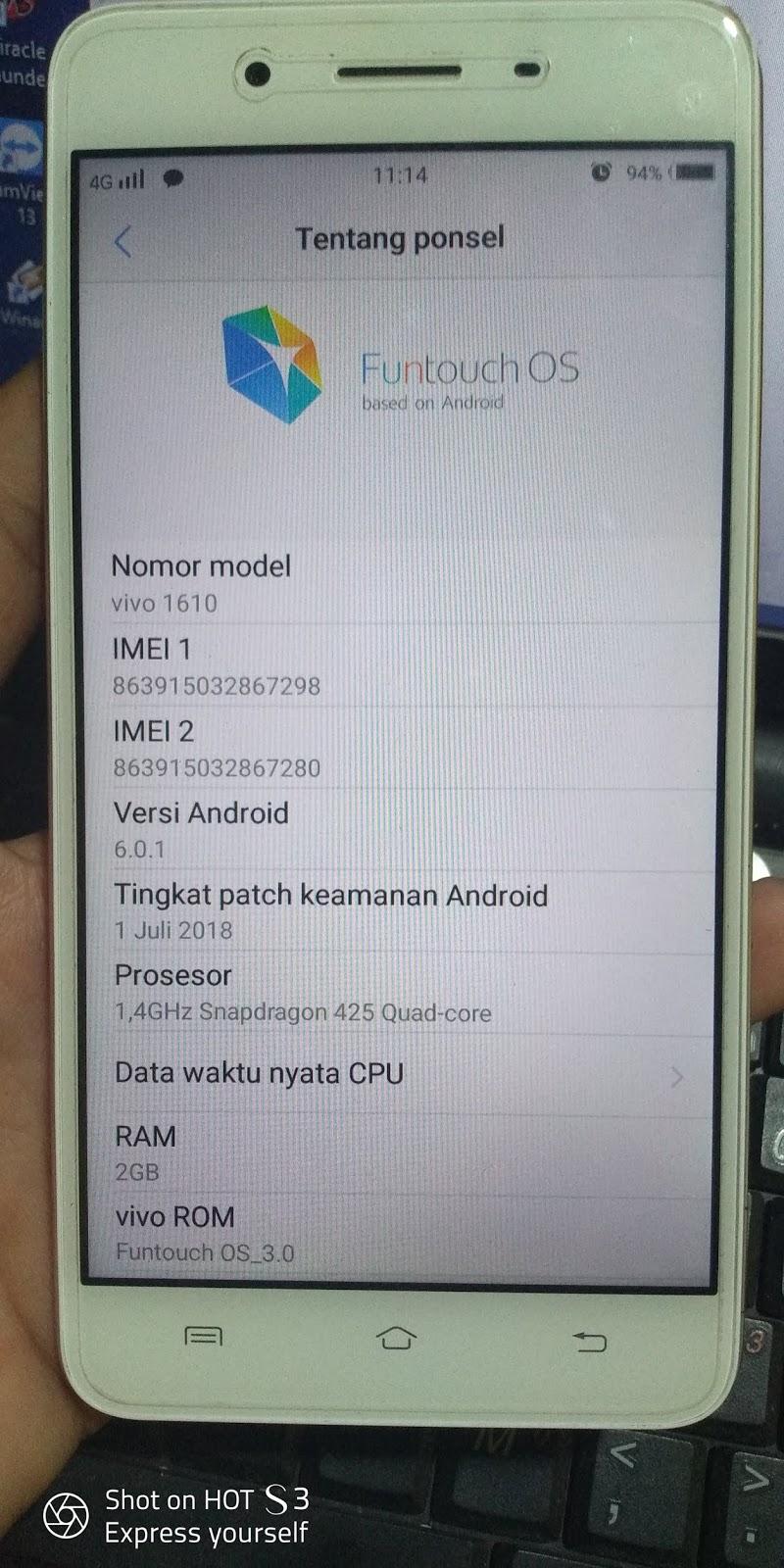 Firmware Vivo Y55s 1610 [PD1613BF] Backup UfiBox Tested