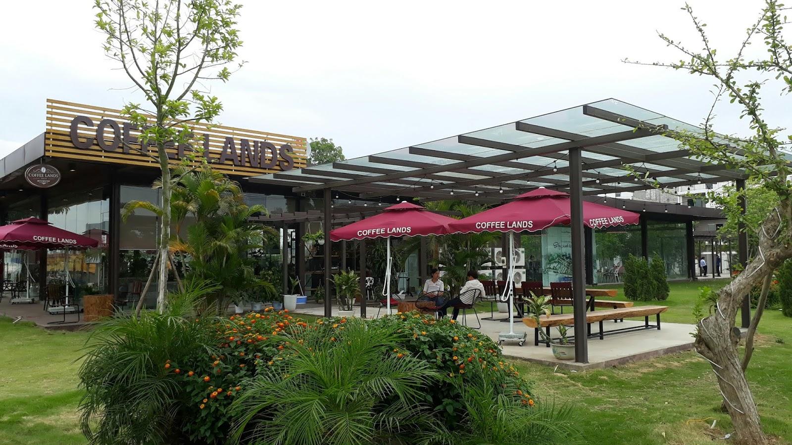 Cafe xanh tại dự án Nam 32