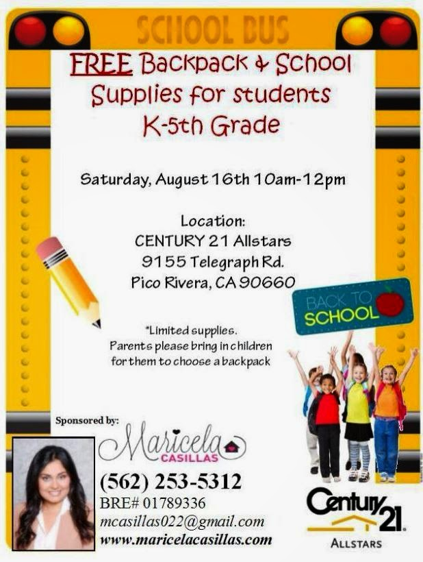 FREE SCHOOL SUPPLIES GIVEAWAY VISALIA CALIFORNIA