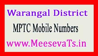 MPTC Mobile Numbers List Zaffergadh Mandal Warangal District in Telangana State