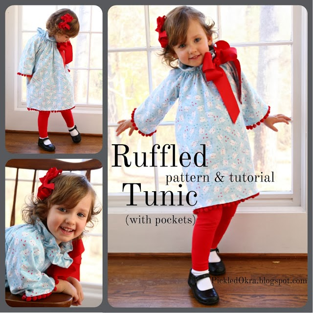 http://pickledokra.blogspot.com/2013/12/ruffled-tunic-free-pattern-and-tutorial.html