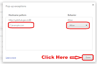 how to disable popups in google chrome browser of any website