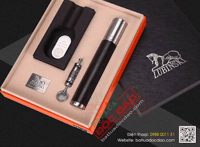 Mua quà tặng sếp: set phụ kiện xì gà Lubinski cao cấp