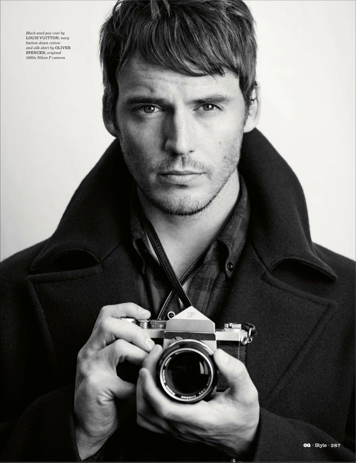 the hunger games france sam claflin dans le magazine gq style