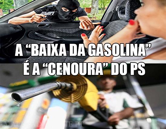 """Imagens de Carjacking e de gasolina – A """"Baixar da Gasolina"""" é a """"Cenoura"""" do PS"""