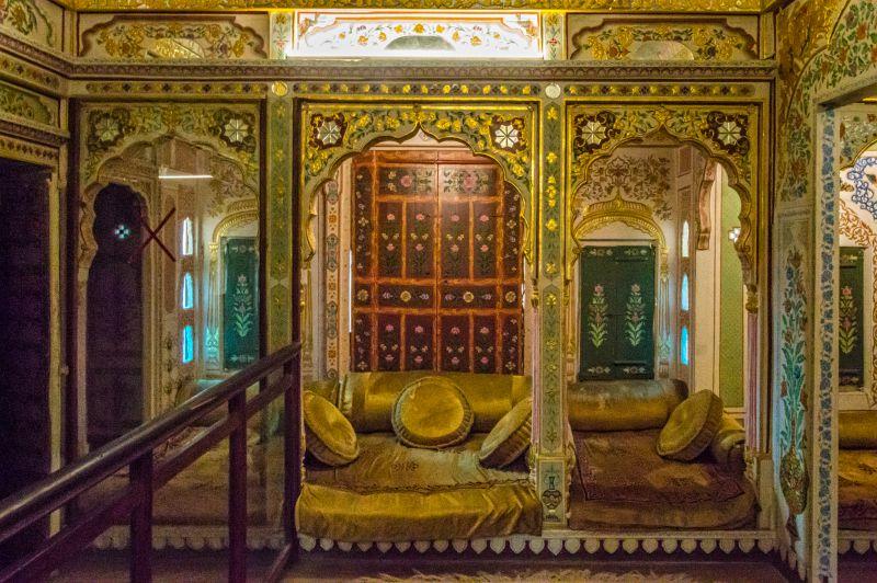 Another opulent room with floor sitting arrangement