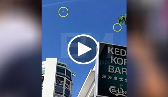 [VIDEO] TERKINI!! Penduduk GEORGETOWN GEMPARR!! 2 UFO dikesan terbang berhampiran bangunan Komtar