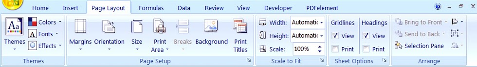 How to use MS Excel Page Layout Menu Hindi Me