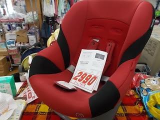 タカタ製チャイルドシート2990円、1歳~4歳対応新生児パッド不足の為、赤