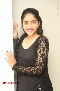 Actress Punarnavi Bhupalam Stills in Black Dress at Pittagoda Press Meet  0027.JPG