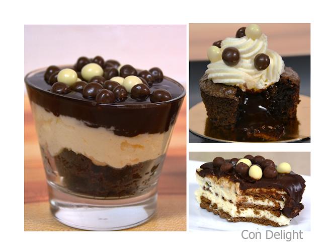 קינוחי שוקולד אישיים individual chocolate desserts