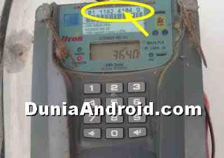 melihat nomor meteran listrik
