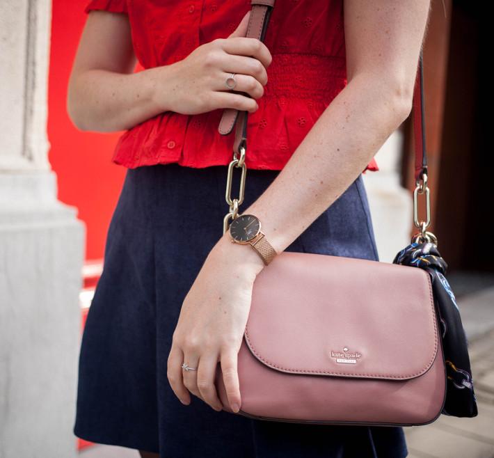 pink kate spade NY bag