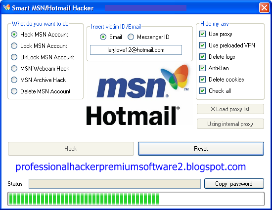 professionalhackerpremiumsoftware: Smart MSN Hotmail Hacker