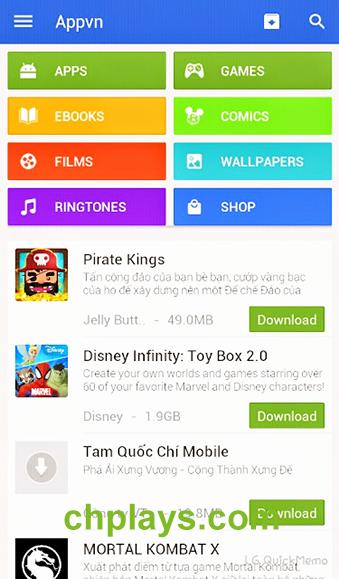 Tải Appvn - Kho tải ứng dụng hay cho máy Android miễn phí c