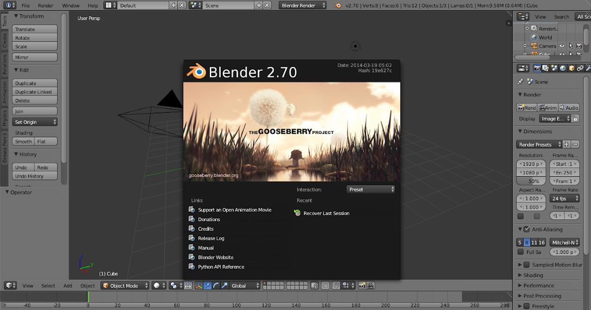 Download Aplikasi Blender Windows 7 ~ Wutok