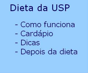 Dieta da USP como funciona cardápio dicas vantagens desvantagens