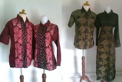 Model Baju Batik Modern Pria Wanita MULTI INFO