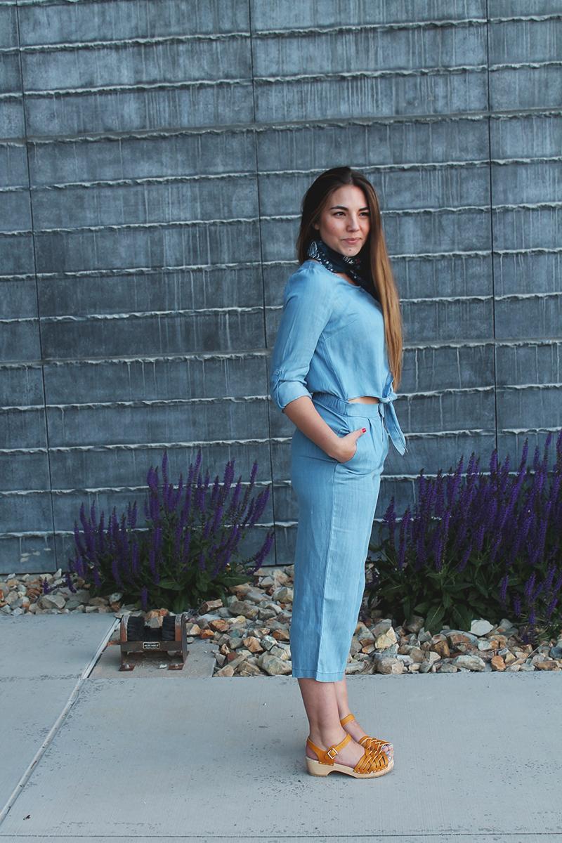blue jumpsuit, utah blogger, fashion blogger