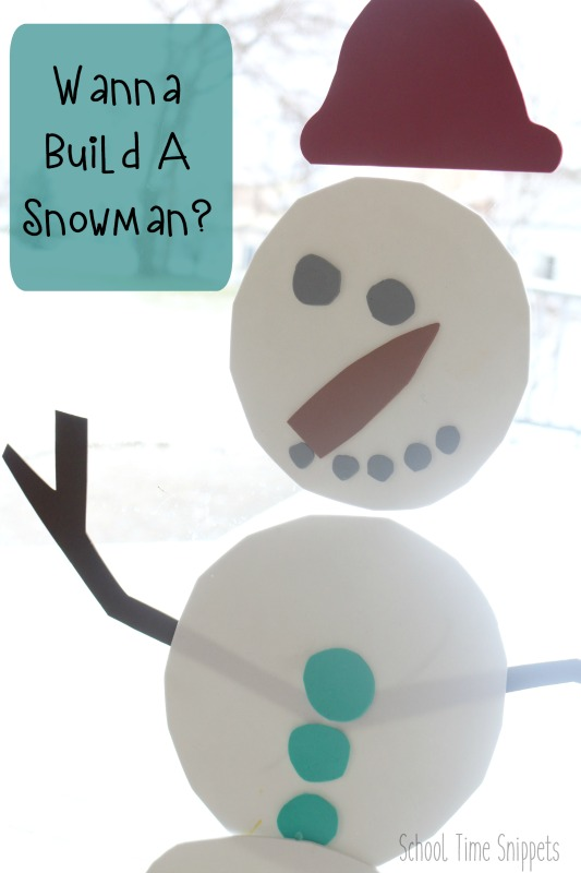 build a snowman indoor activity