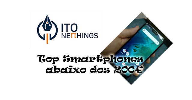 Top Smartphones abaixo de 200€