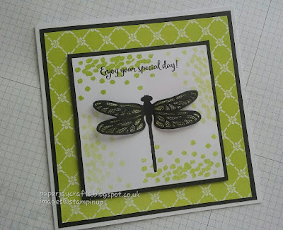 Paperjay Crafts, Dragonfly Dreams with Lemon Lime Twist, Stampin Up