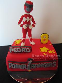 Bolo de aniversário Power Rangers