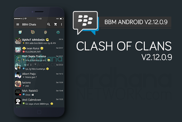 BBM Clash of Clans - BBM Android V2.12.0.9