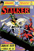 Stalker v1 #2 dc bronze age comic book cover art by Steve Ditko, Wally Wood